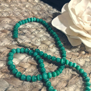 Jewelry - Vintage Teal Beaded Choker Necklace